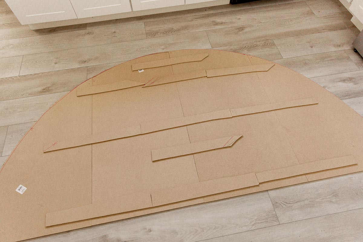 Assembling a statement headboard from MDF panels.