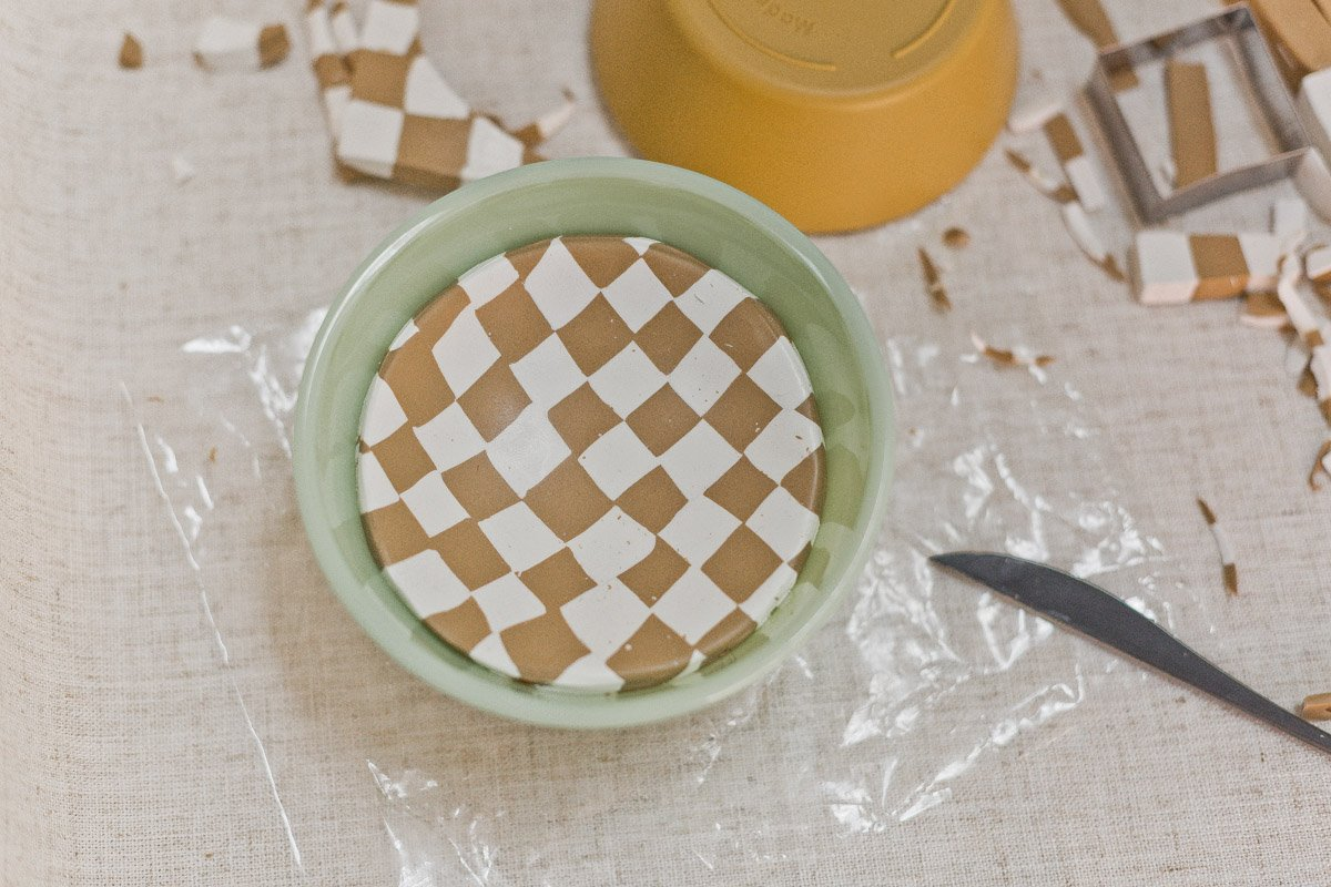 Shaping oven bake clay to make a bowl